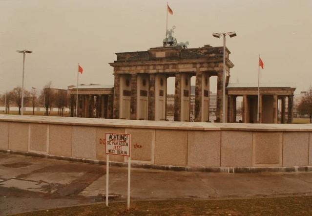 Berlin Wall at Brandenburg Gate 1987  From West Berlin