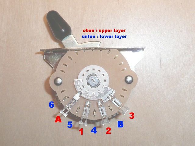 5 Way Switch Wiring Diagram Stratocaster With Genuine Fender 5 Way Switch 2 Layers For Stratocaster Gu