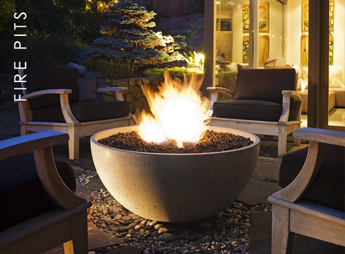Solus Hemi Concrete Gas Fire Bowl  by Solus blogged here