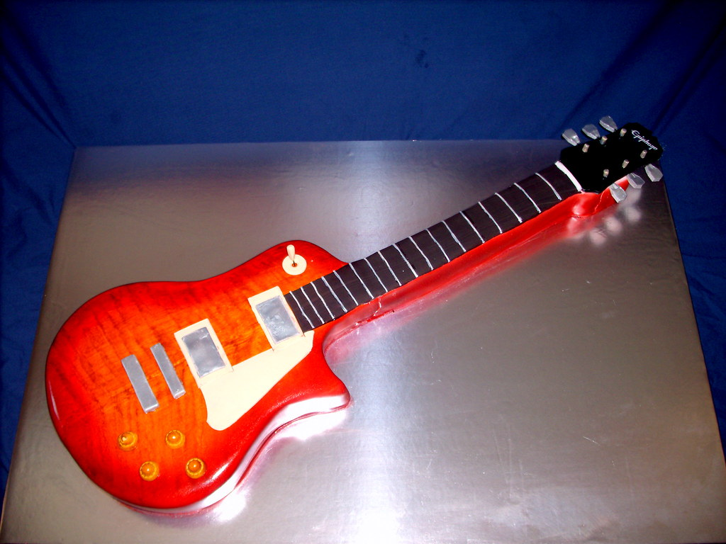 Epiphone Les Paul Guitar Cake Greg Made This Cake From