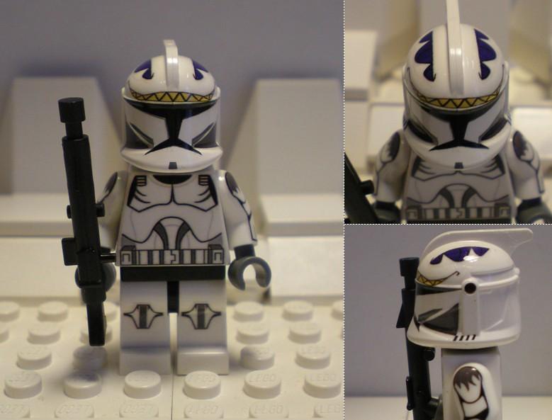 Lego custom Clone Trooper Squawk  Home made decal design