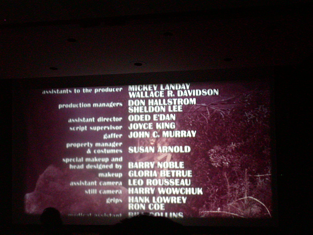 Oded Edan A Really Incredible Name In The Credits Of