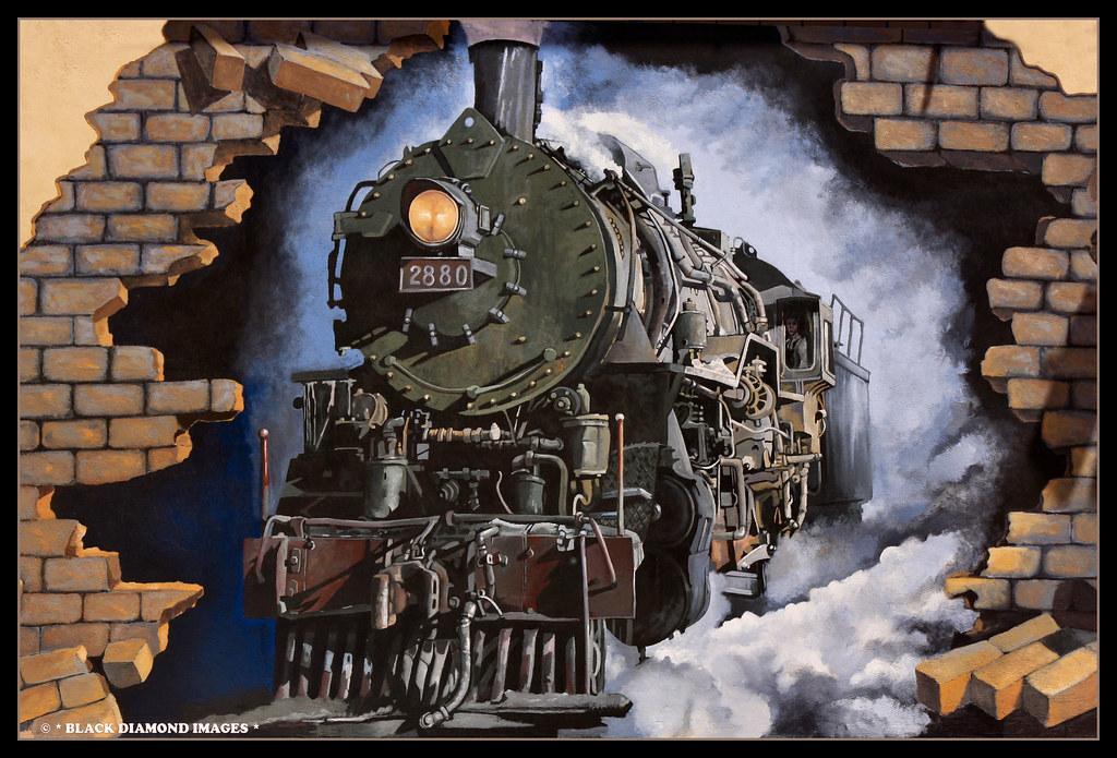 3d Wallpaper For Walls Australia Steam Train Mural No 1 Broken Hill Railway Station Flickr