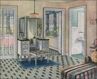 1924 Blabon Art Linoleum - Dressing Room | Source: Ladies ...