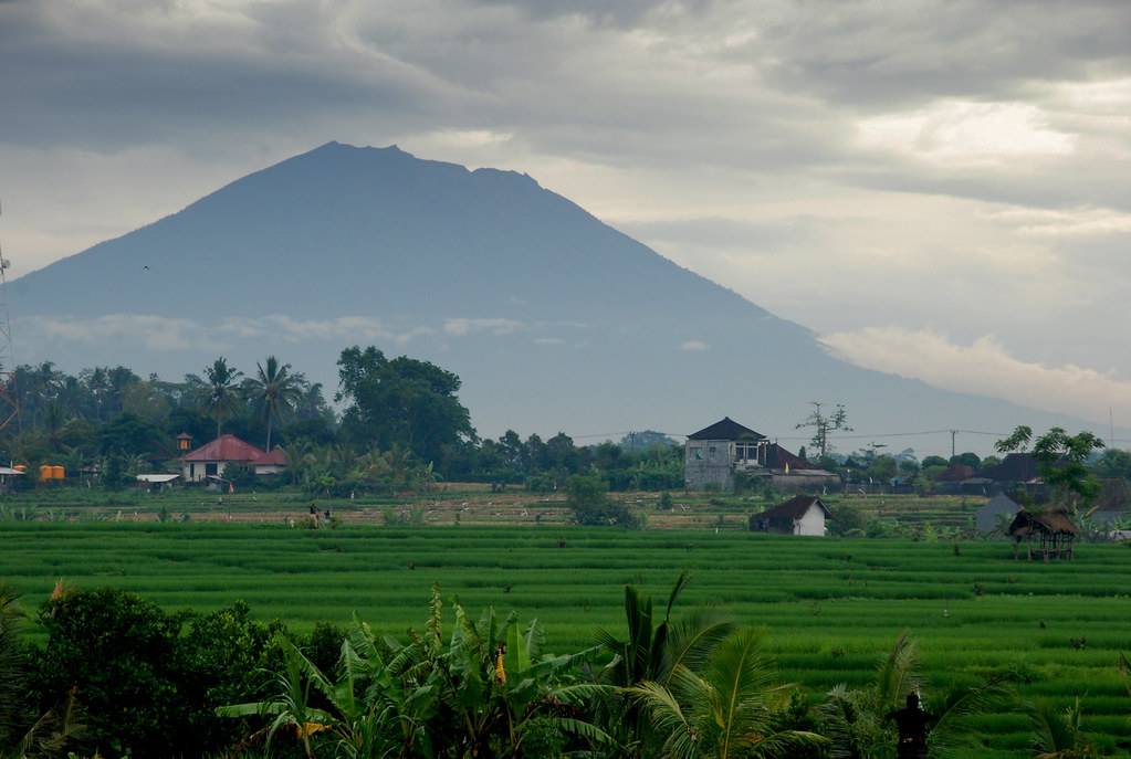 Gunung Agung Gunung Agung Volcano As Seen From Ubud