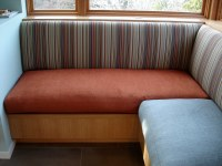 Living Room Banquette | Corner of living room banquette ...