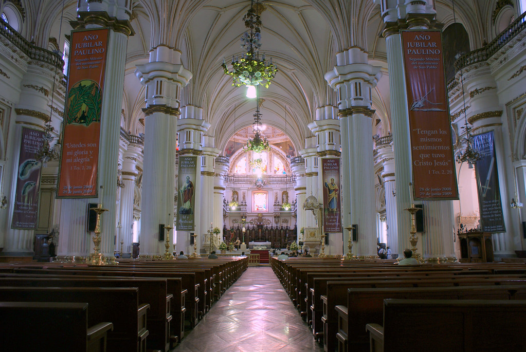 Interior de la Catedral de Guadalajara  El interior de la