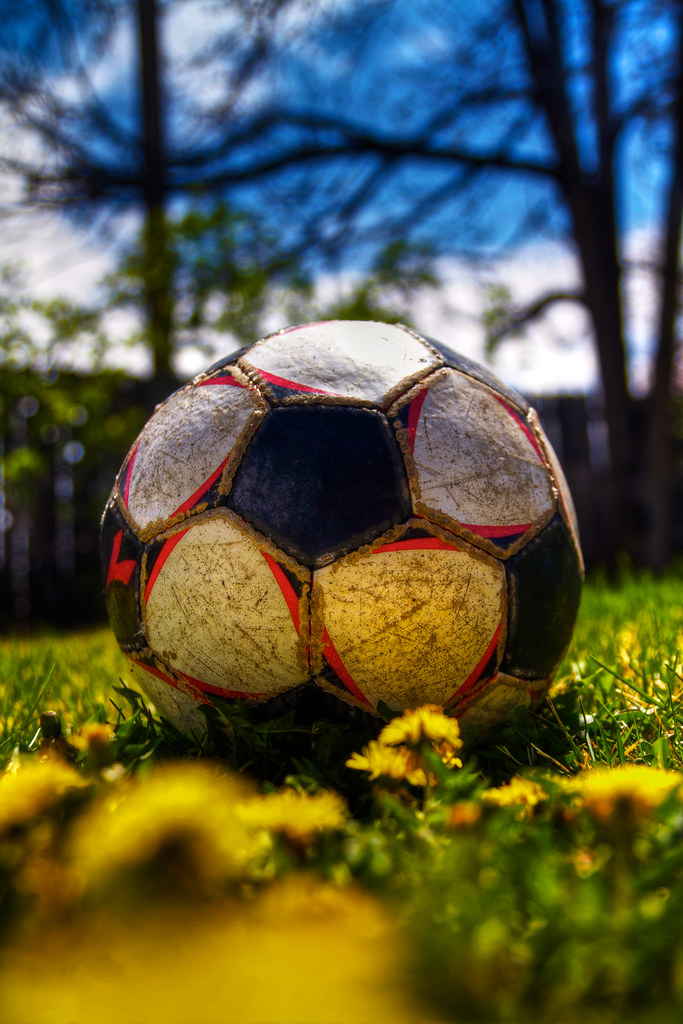 Spring Has Sprung Picture Of The Soccer Ball In My Back