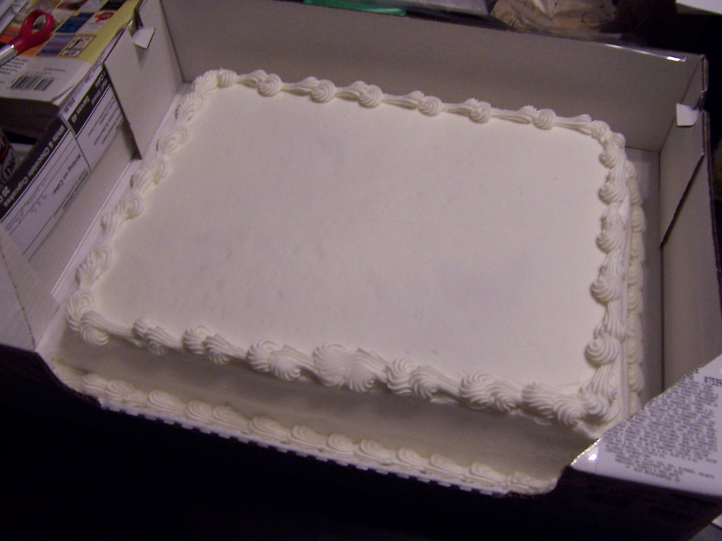 Once there was a blank cake  Costco screwed up our orde  Flickr