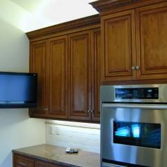 Small Flat Screen Tv For Kitchen Visualizer New Custom Wall Mounted Double Ov