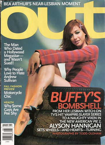 Alyson Hannigan on cover of Out Magazine  photographs by