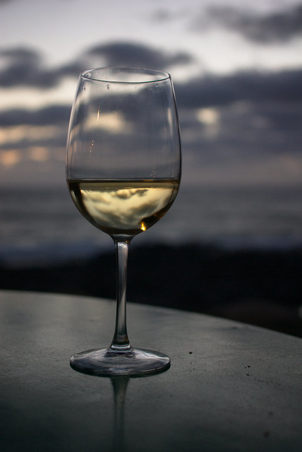 A glass of Lanzarote wine