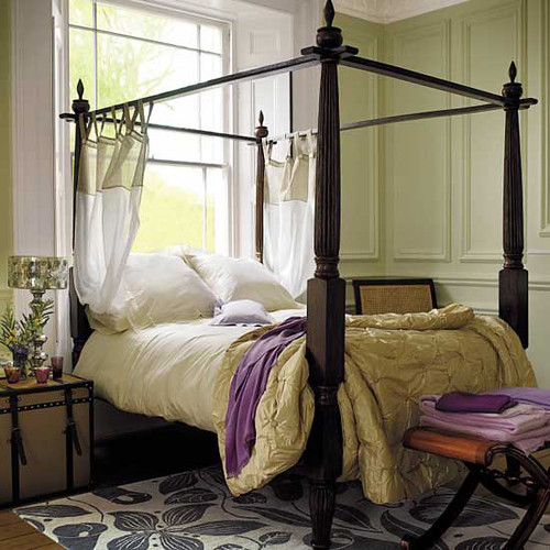 purple and yellow master bedroom ideas Pale green bedroom + yellow + purple accents + modern flor