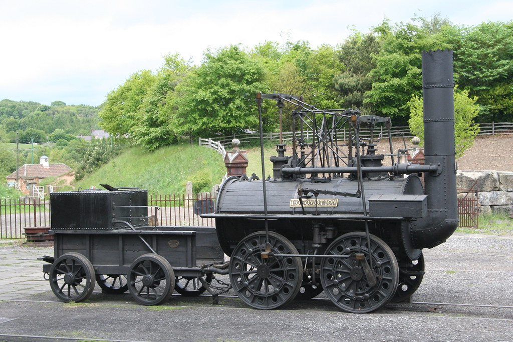Replica of Locomotion No 1 at Beamish Pockerley Waggonway