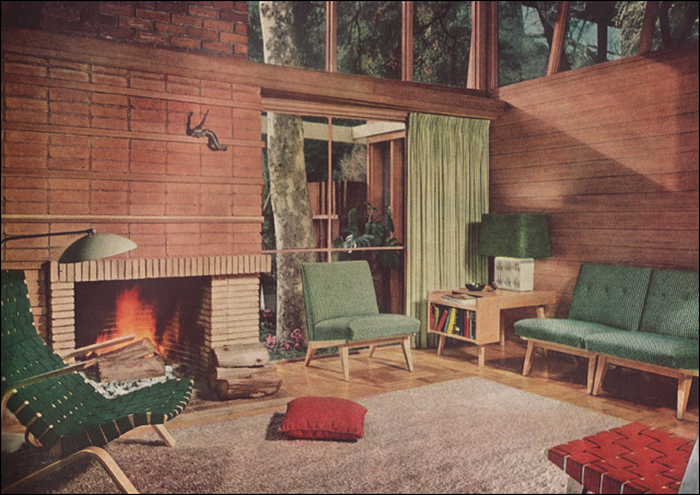 1951 Mid Century Modern Living Room Theres A Lot To
