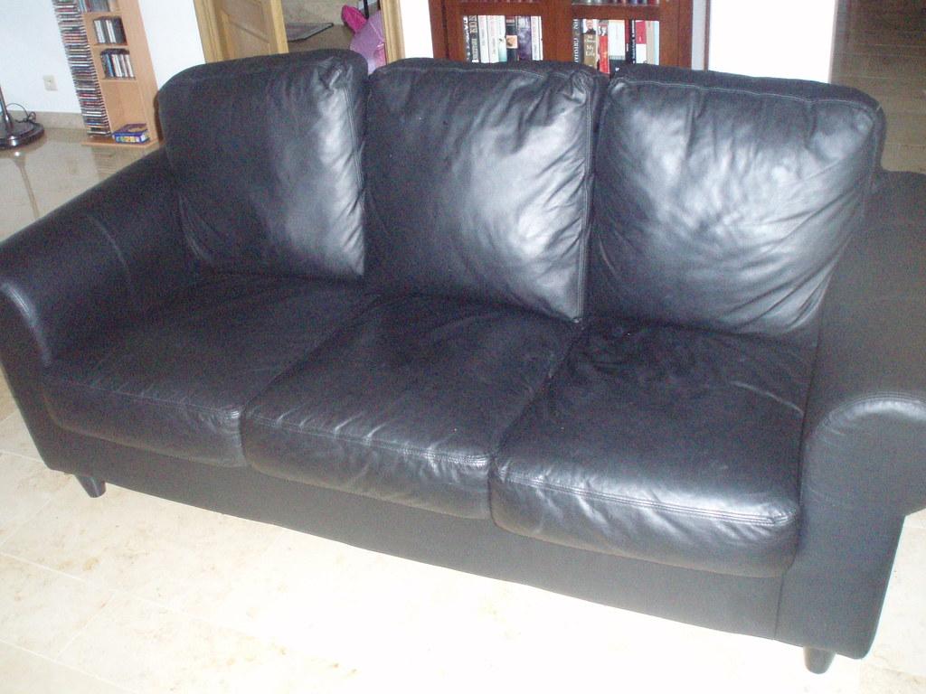 ikea ekeskog sofa for sale pottery barn pearce manufacturer fixhult leather sofas 2 120 each frutos krueger