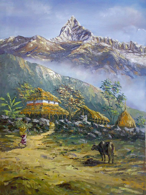Free Fall Wallpaper Images Pokhara Landscape Oil Painting By Kamal Gurung 169 Art By