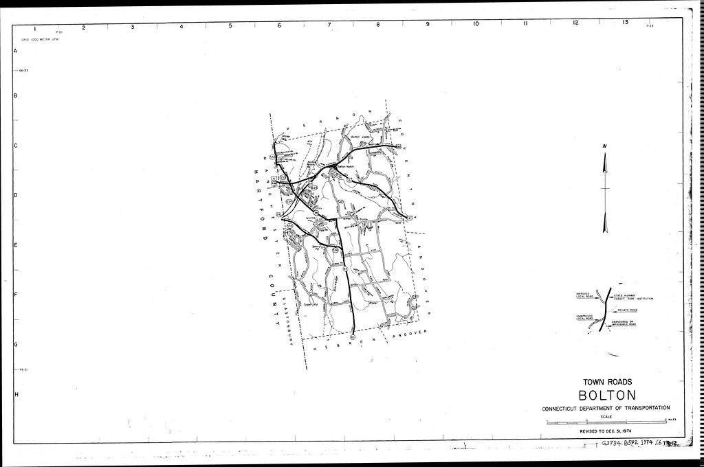 Town roads Bolton/ Connecticut Department of Transportatio