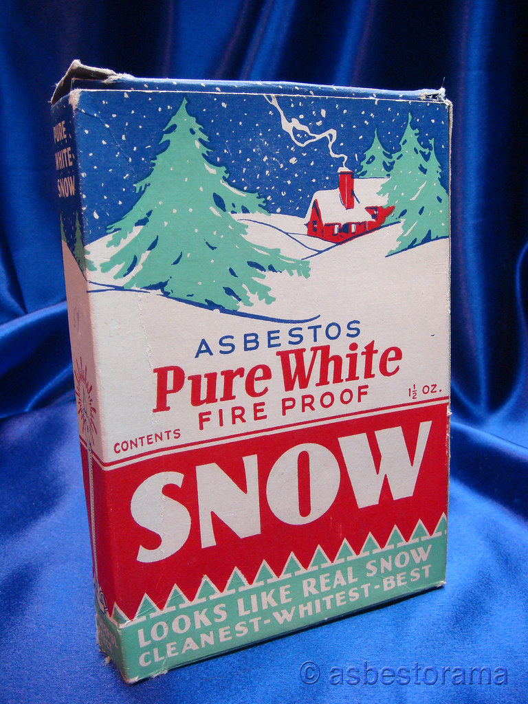 Pure White Asbestos Fireproof Snow  Although labeled as