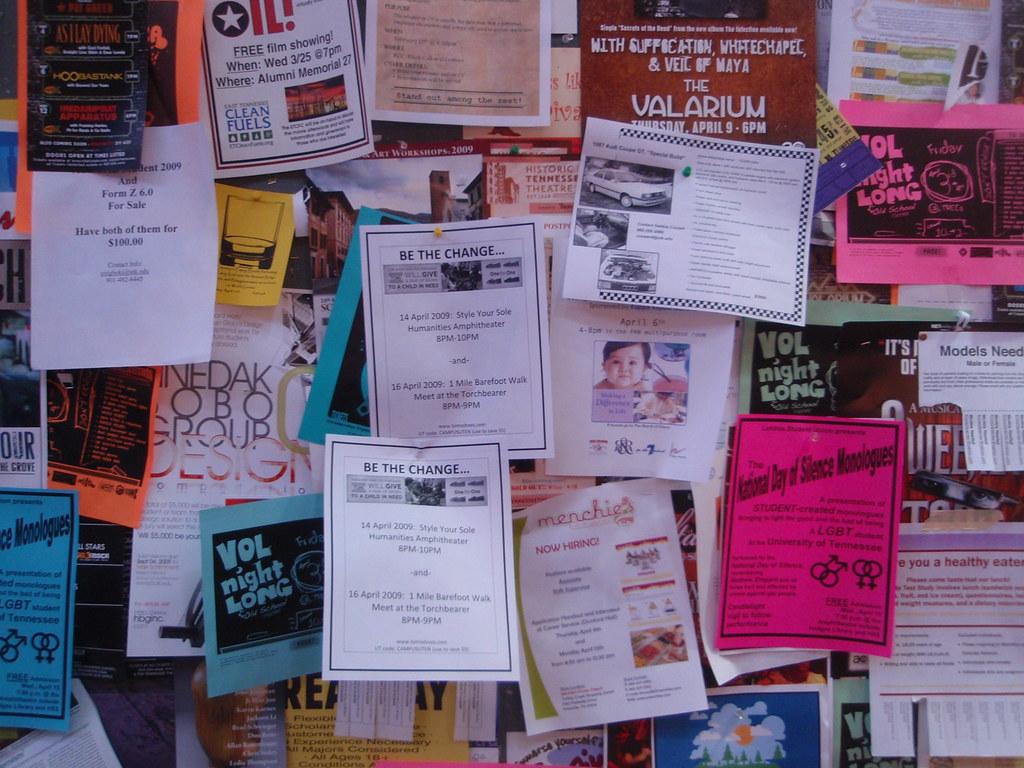 flyers  A very full bulletin board  Joel Kramer  Flickr
