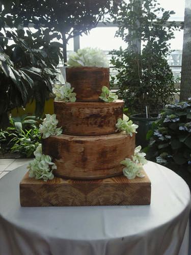 Reclaimed Wood Wedding cake  TipsyCake Chicago  Flickr