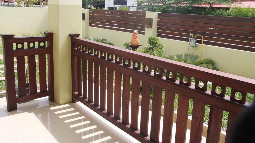 pagar kayu belian  Untuk jimat kosini pun buat sendiri