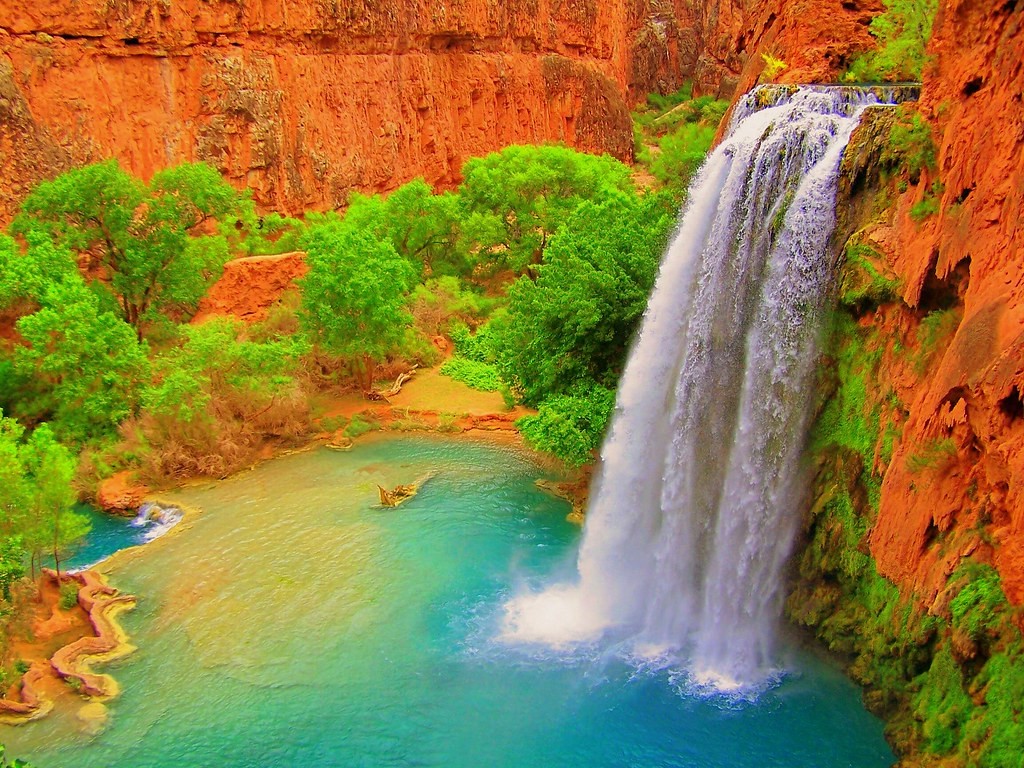 Havasu Falls Arizona Wallpaper Havasu Falls In The Hualapai Indian Reservation Arizona