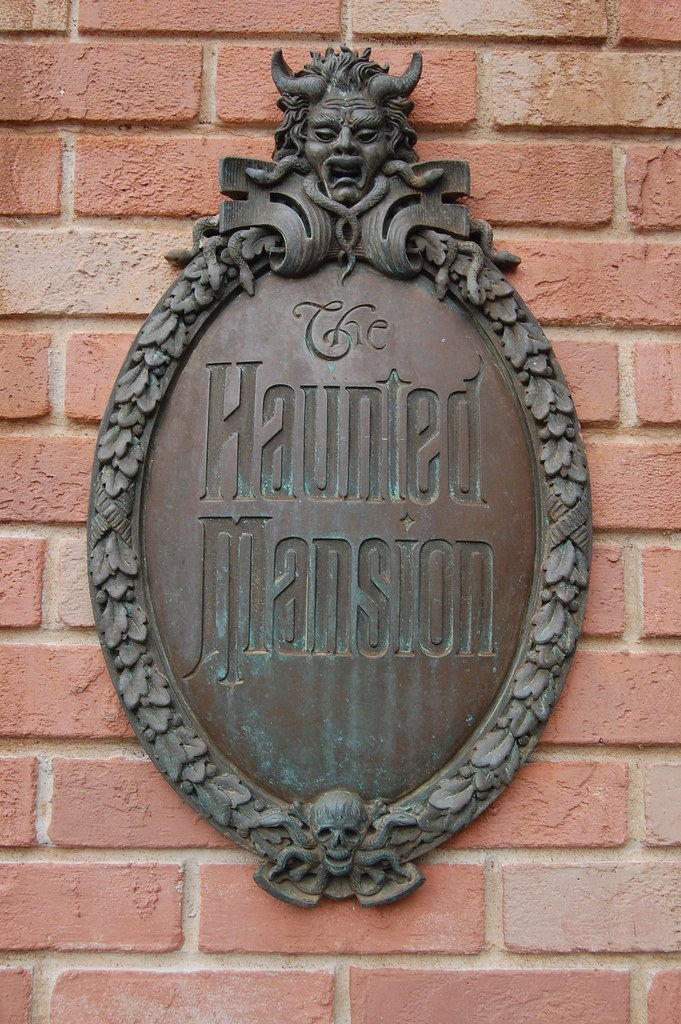 Haunted Mansion Plaque  On the brick columns at the