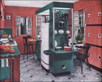 1950 Armstrong Mid Century Modern Kitchen | This is a cool ...