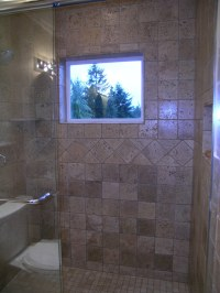 New Tile Walk-in Shower With Window | New, Jet ,Tub ...