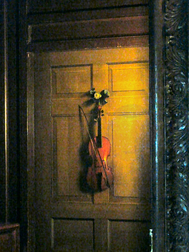 Trompe loeil of a violinChatsworth House  Flickr