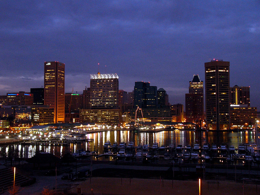 Fall Aesthetic Wallpaper Baltimore Inner Harbor From Federal Hill I Lived In This