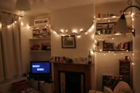 My living room with fairy lights