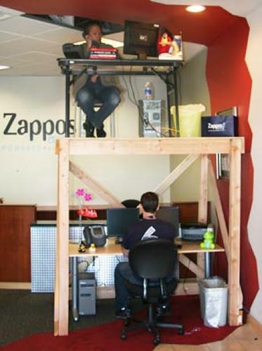 Zappos Blogs Inside Zappos BunkDesks crazycorporatecu