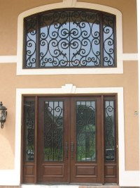 Faux Wrought Iron Transom Window Insert. | The top ...