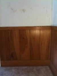 Chair rail / wood paneling - before | bella sera | Flickr