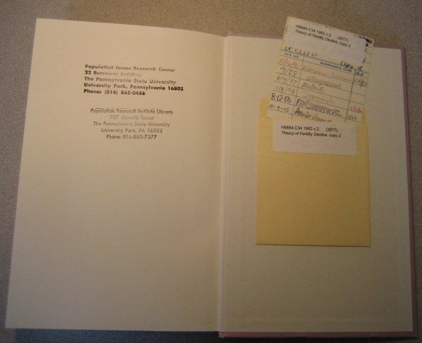 Check Out Library Book Pocket Cards