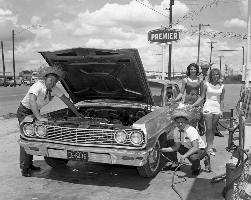 New Gas Station Fort Worth Texas 1964 I Was Given The