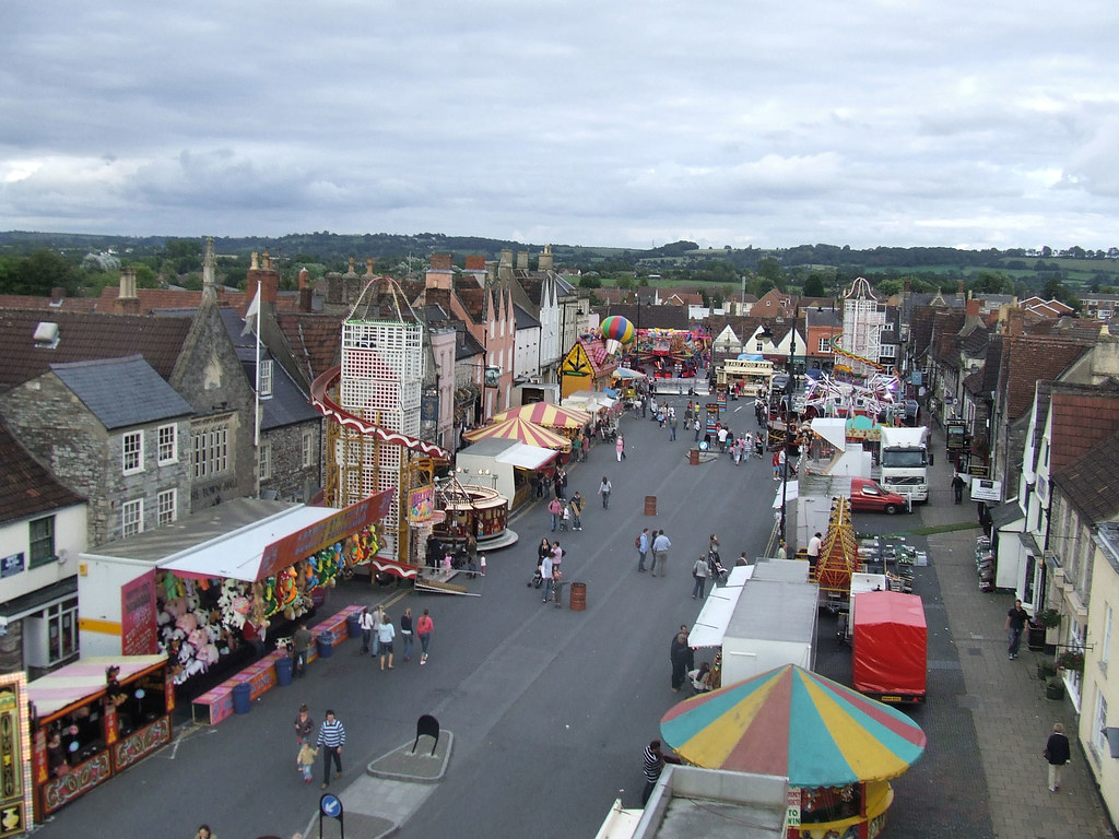 Chipping Sodbury Mop Fair  This was the view of the High