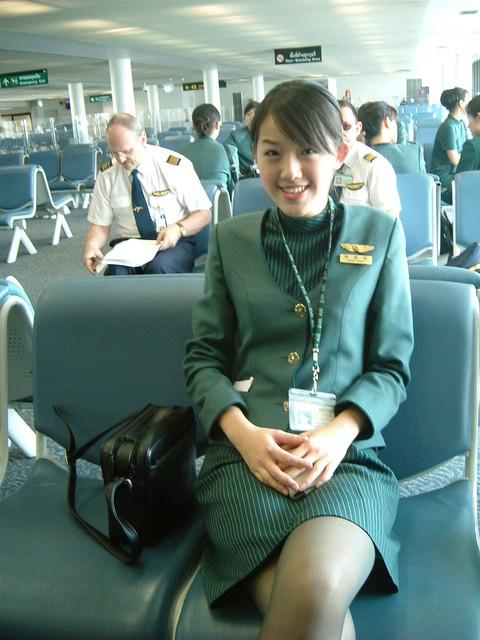 Eva Air beautiful stewardess  Irene  For more updated