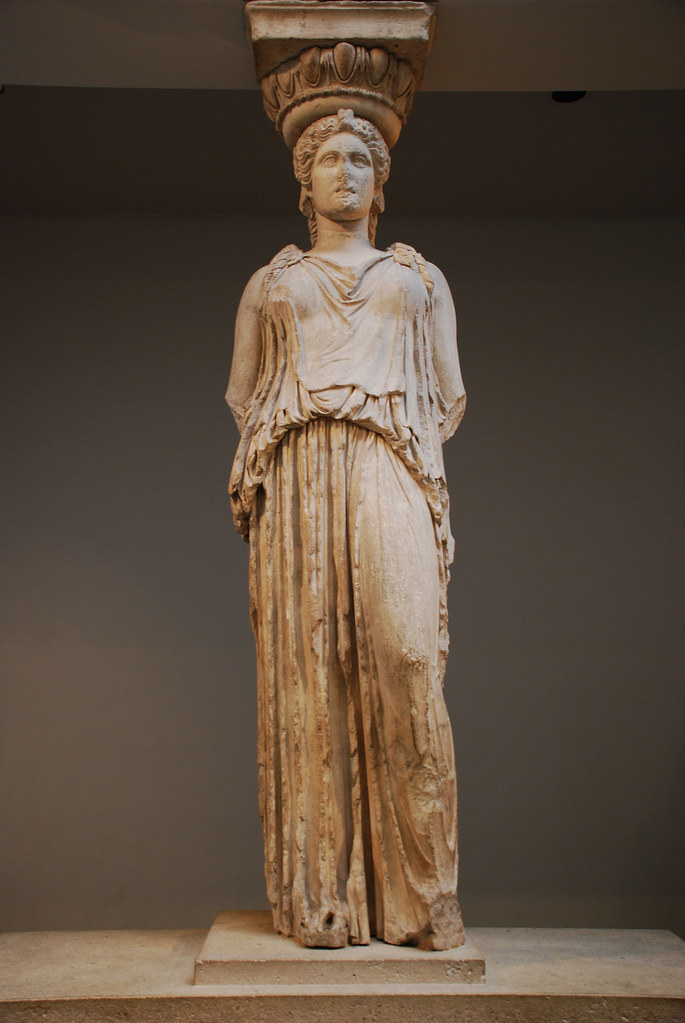 Caryatid From The Erechtheion The Acropolis Athens