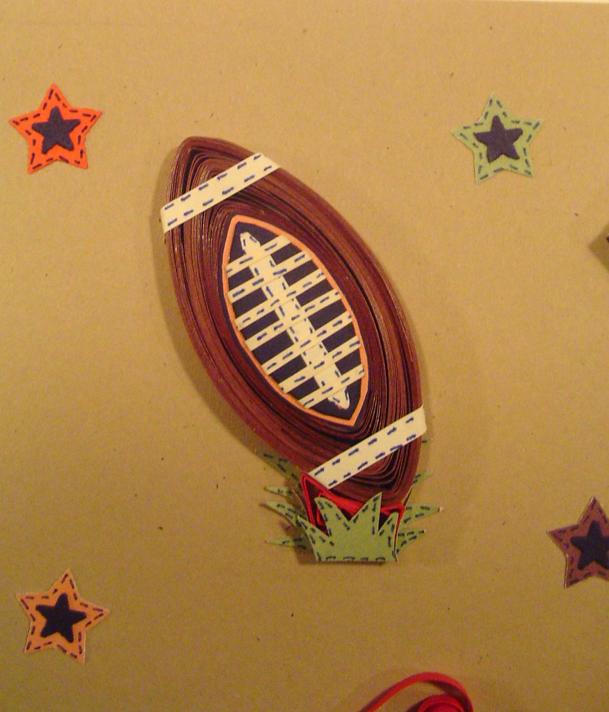 Paper Quilling 11X14 Connor football detail  This was