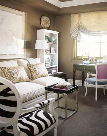 Modern cocoa brown living room Benjamin Moore Shenandoah
