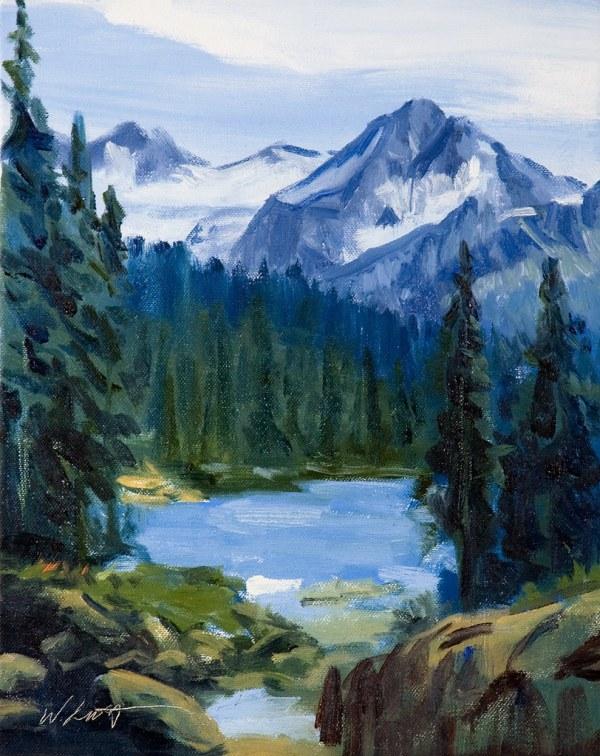 Trail Whistler Mountain British Columbia Original Oil