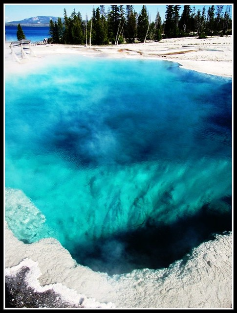 Abyss Pool Turquoise Blue Jewel West Thumb Geyser Basin  Flickr