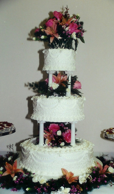 ThreeTier Wedding Cake with Columns and Filigree  Karla