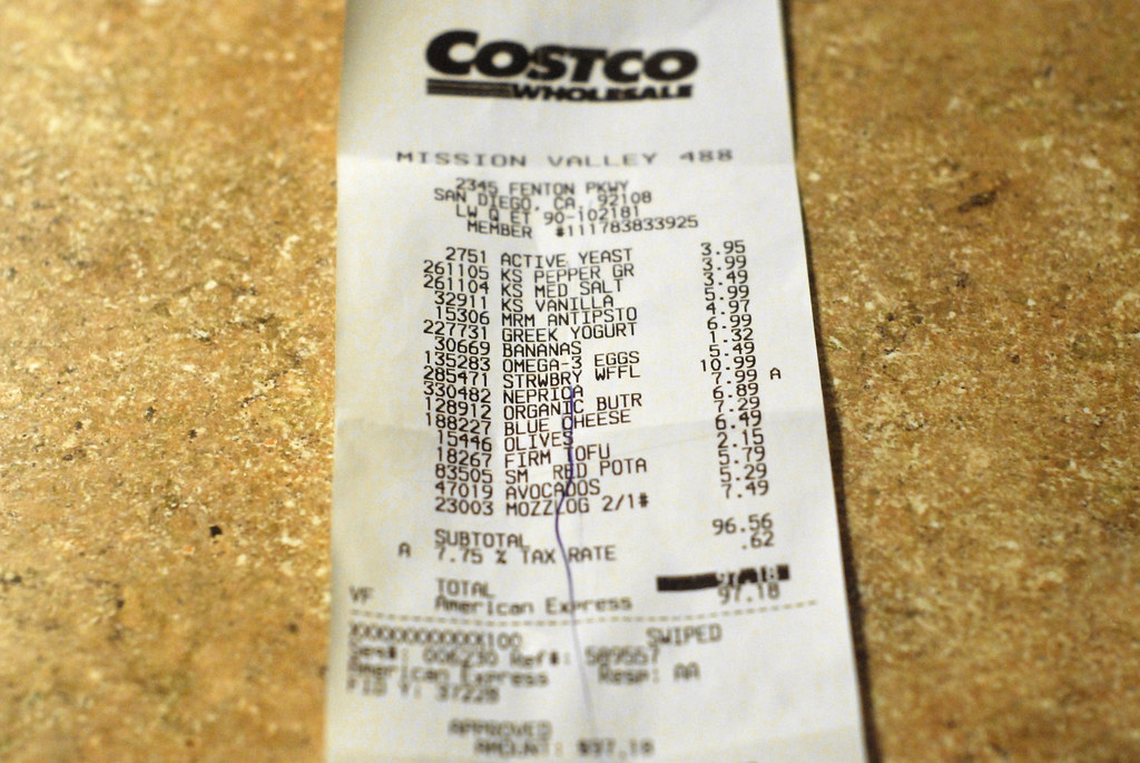 Blue Line Of Submission My Costco Receipt After I Was