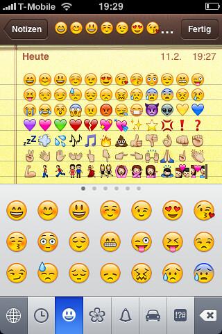 iPhone Emoji Keyboard enabled  Jiminy I had no idea