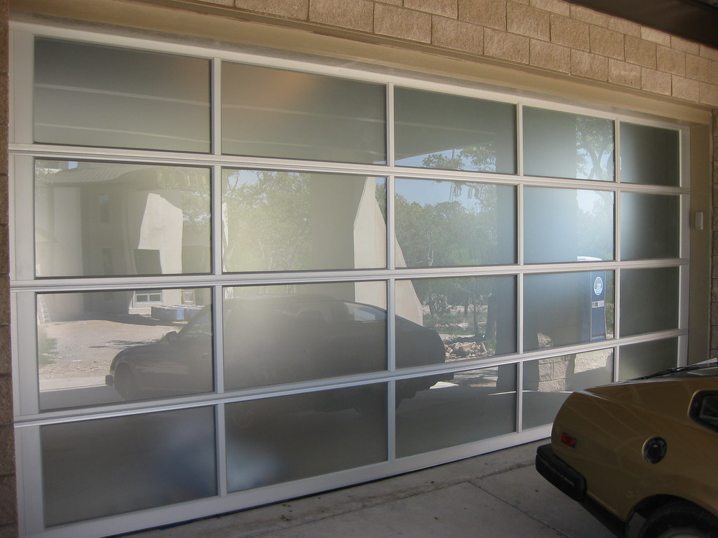 Contemporary Frosted Glass Garage Door  A contemporary fros  Flickr