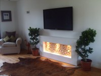 Decorative Logs contemporary fireplace | Our logs in situ ...